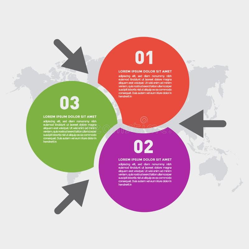 Descripteur abstrait de conception d'infographics images stock
