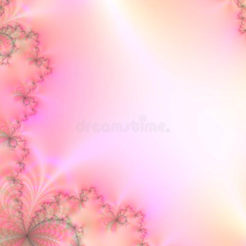Descripteur abstrait de conception de fond aux nuances des pastels roses, jaunes, et verts illustration libre de droits