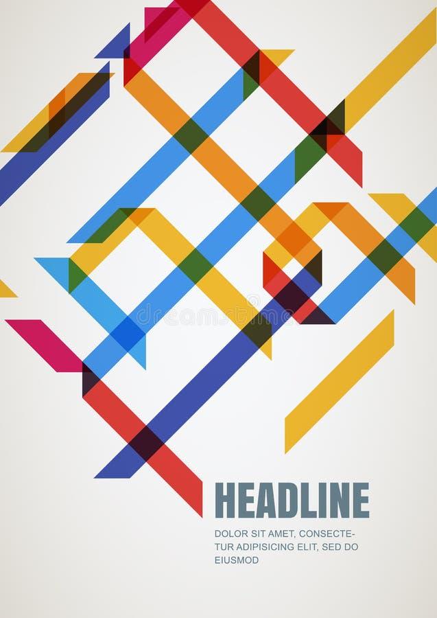 Descripteur abstrait de conception de vecteur Concept pour l'infographi d'affaires illustration stock