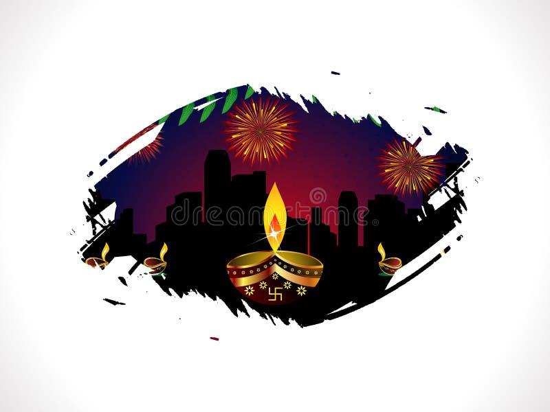 Descripteur abstrait de diwali illustration libre de droits