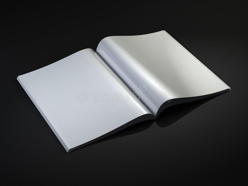 Descripteur blanc de revue illustration stock