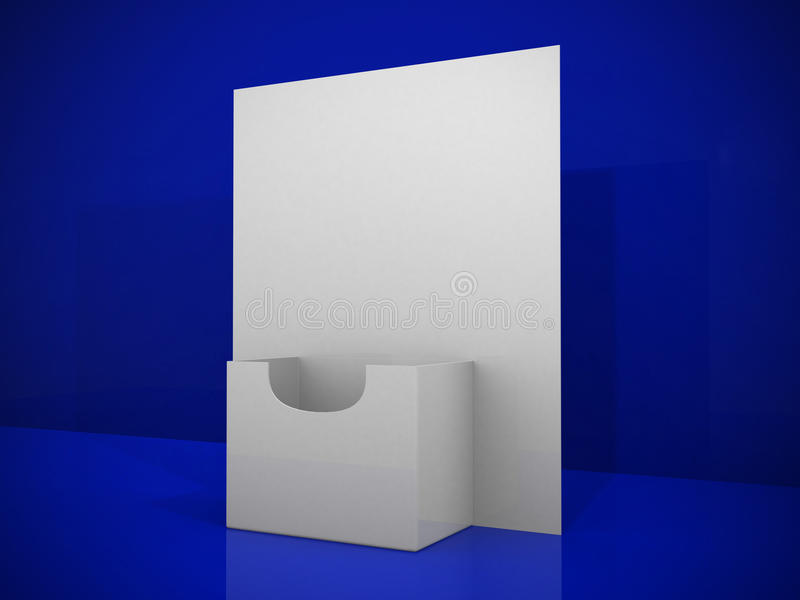 descripteur blanc de support de la brochure 3d illustration libre de droits