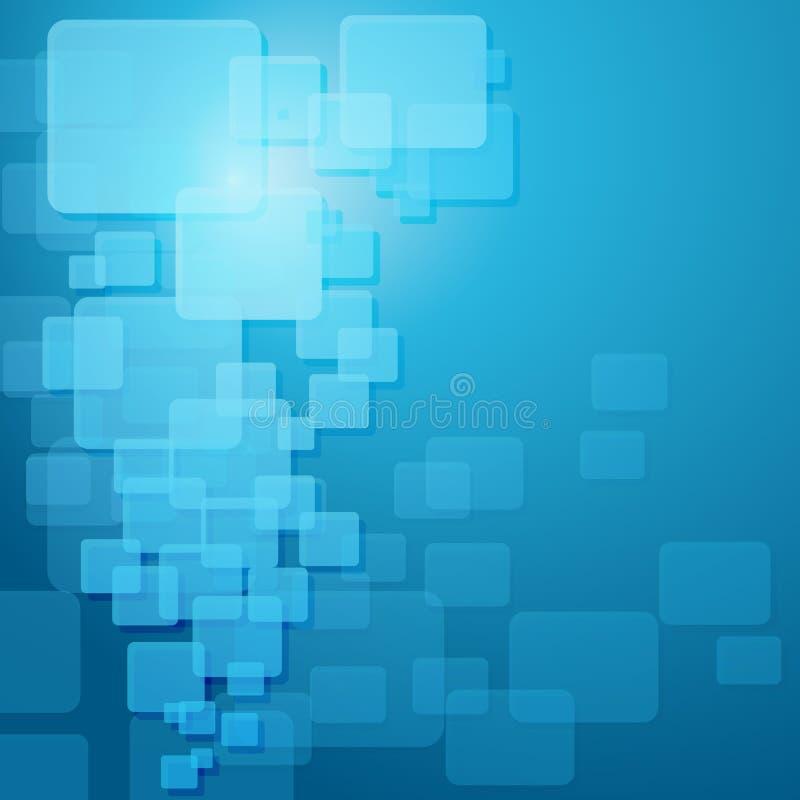 Descripteur bleu de techno. illustration de vecteur