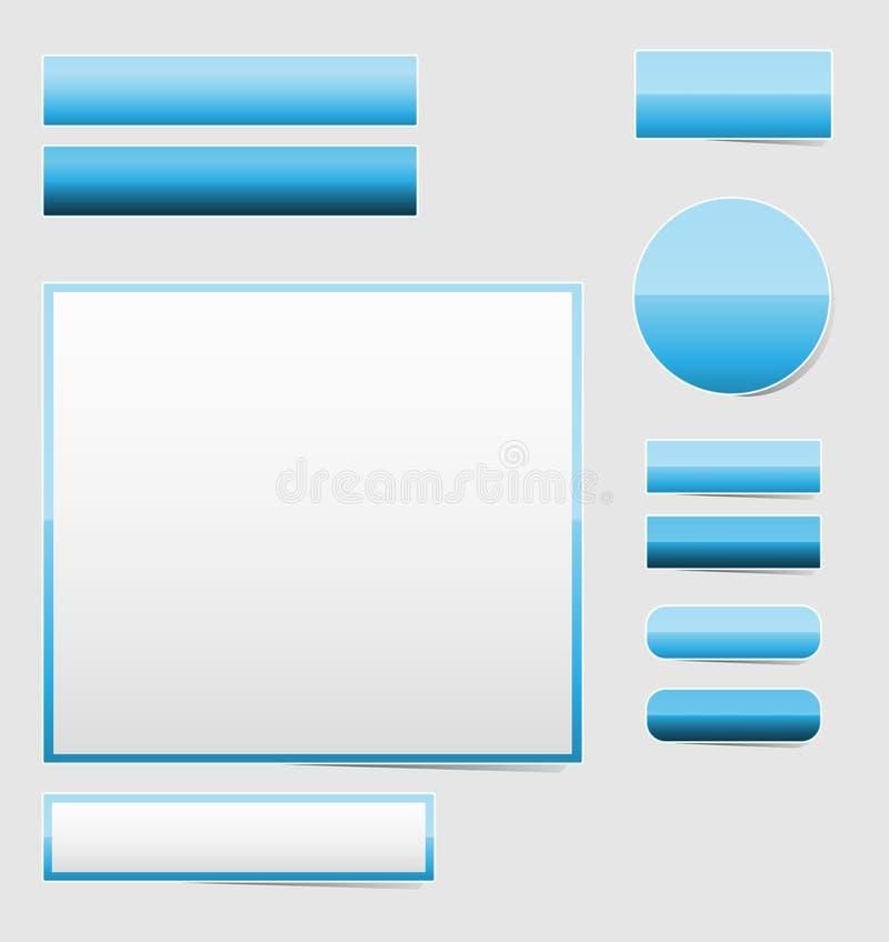 Descripteur bleu lustré illustration stock