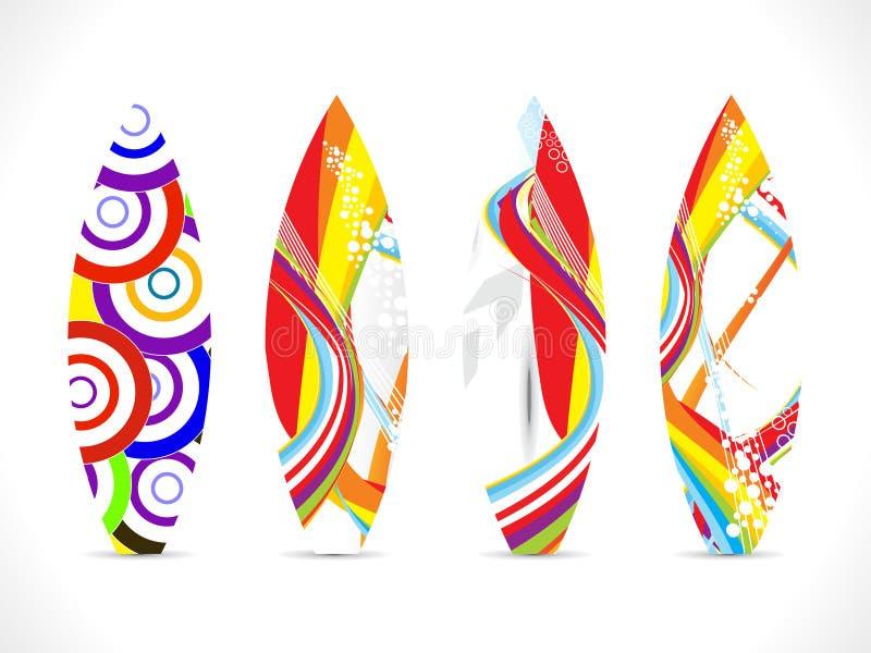 Descripteur coloré abstrait de panneau de vague déferlante illustration stock
