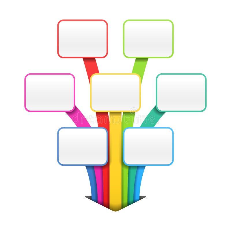 Descripteur coloré de présentation ou de conception illustration de vecteur