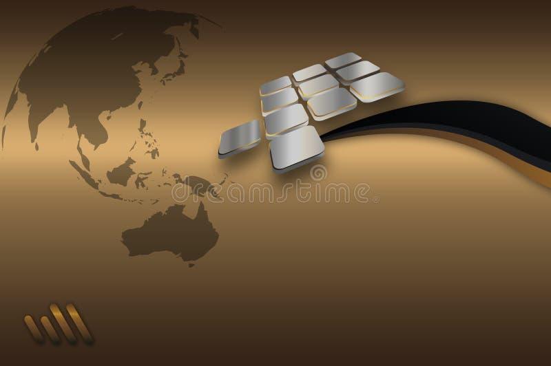 Descripteur d'or de carte de visite professionnelle de visite. illustration stock