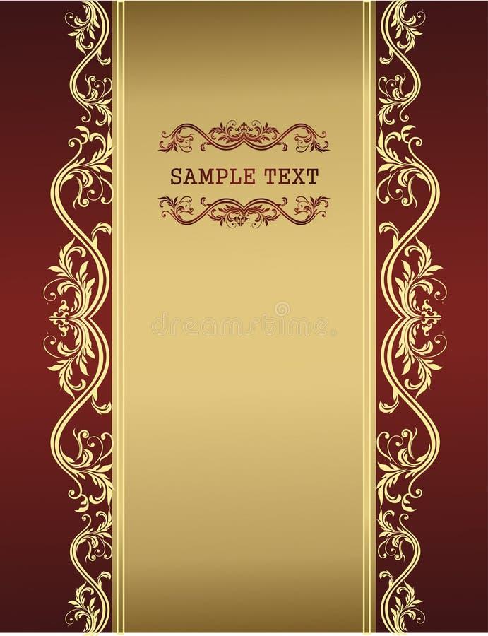 Descripteur d'or de cru pour votre texte illustration libre de droits