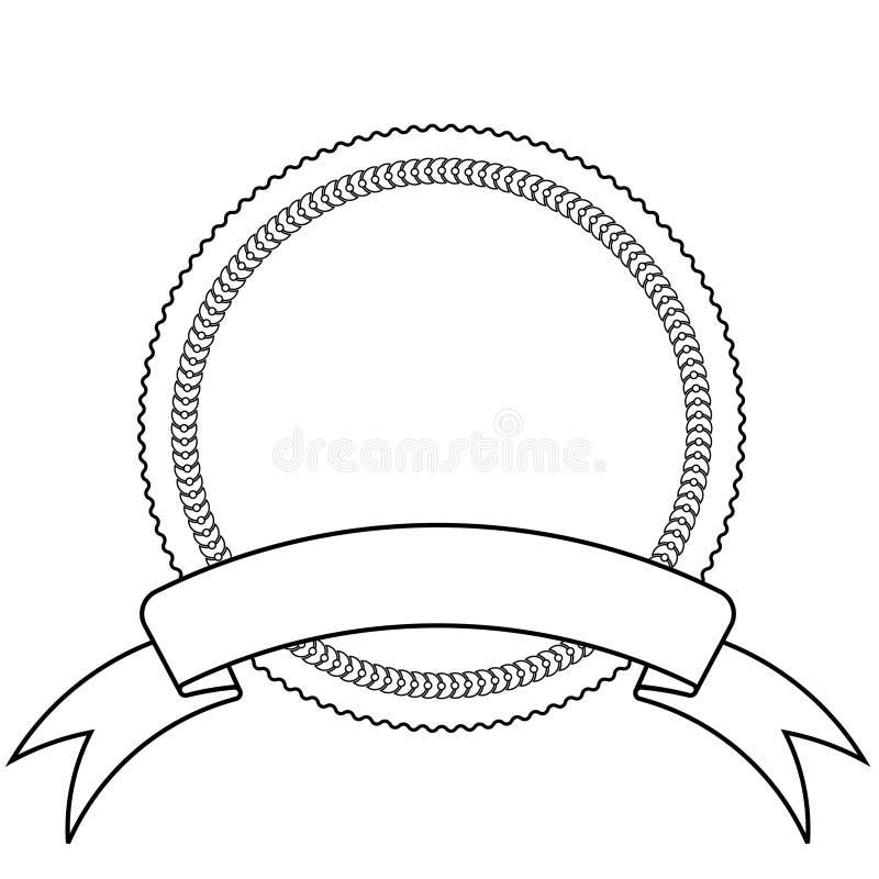 Descripteur d'emblème et de drapeau illustration stock