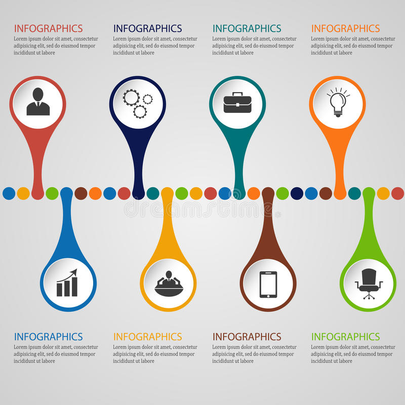 Descripteur d'Infographic illustration libre de droits