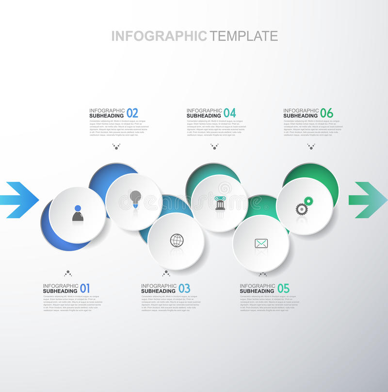 Descripteur d'Infographic illustration stock