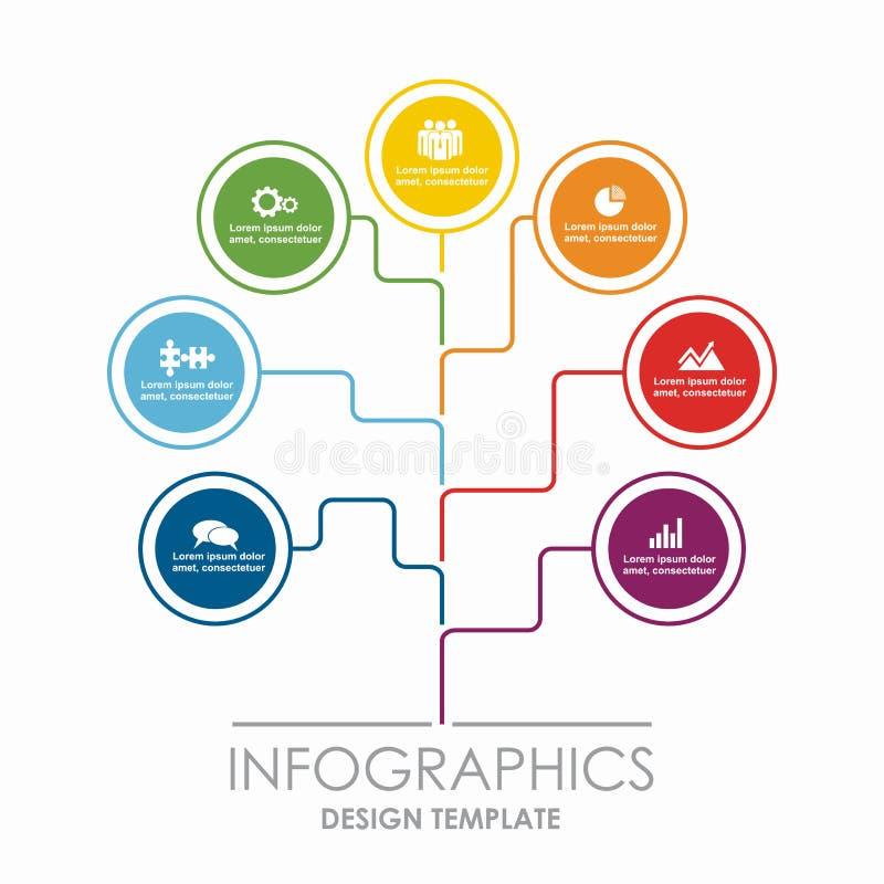 Descripteur d'Infographic Illustration de vecteur Peut être employé pour la disposition de déroulement des opérations, diagramme, illustration de vecteur