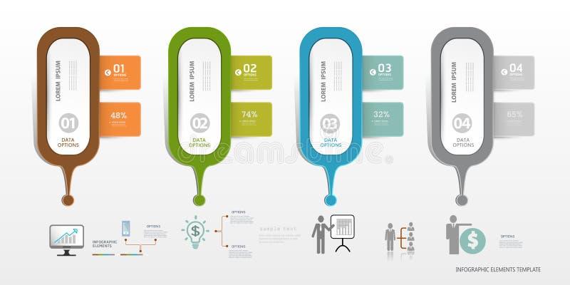 Descripteur d'Infographic peut être employé pour la disposition de déroulement des opérations, illustration libre de droits