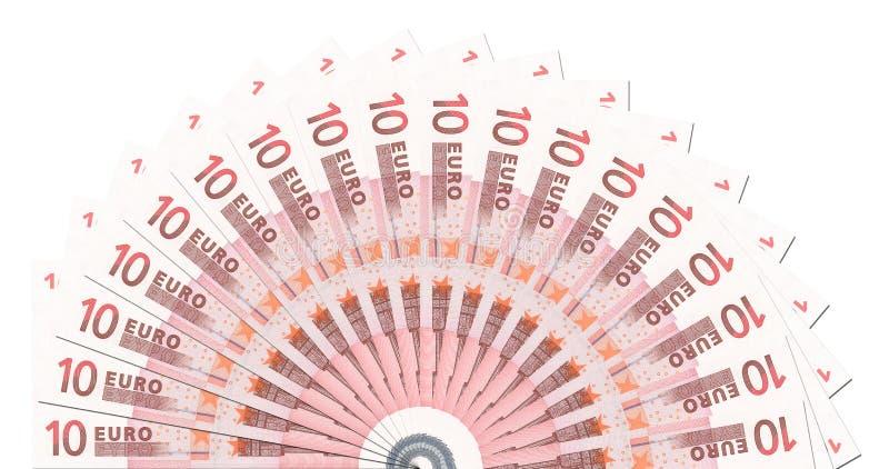 descripteur de 10 de notes de cercle euro demi photo stock