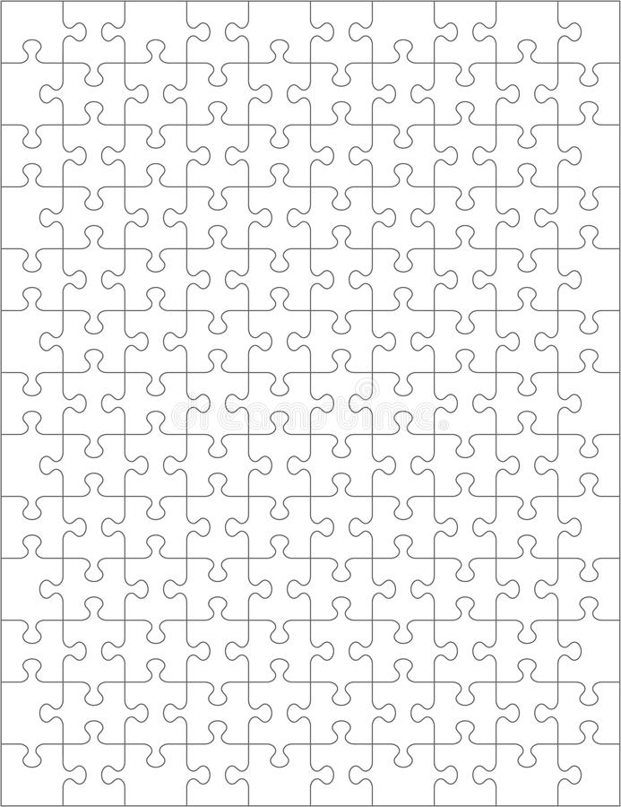 Descripteur de blanc de puzzle denteux illustration de vecteur