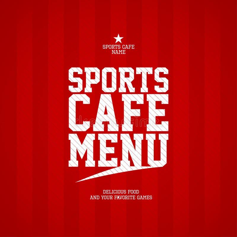 Descripteur de carte de carte de café de sports. illustration libre de droits