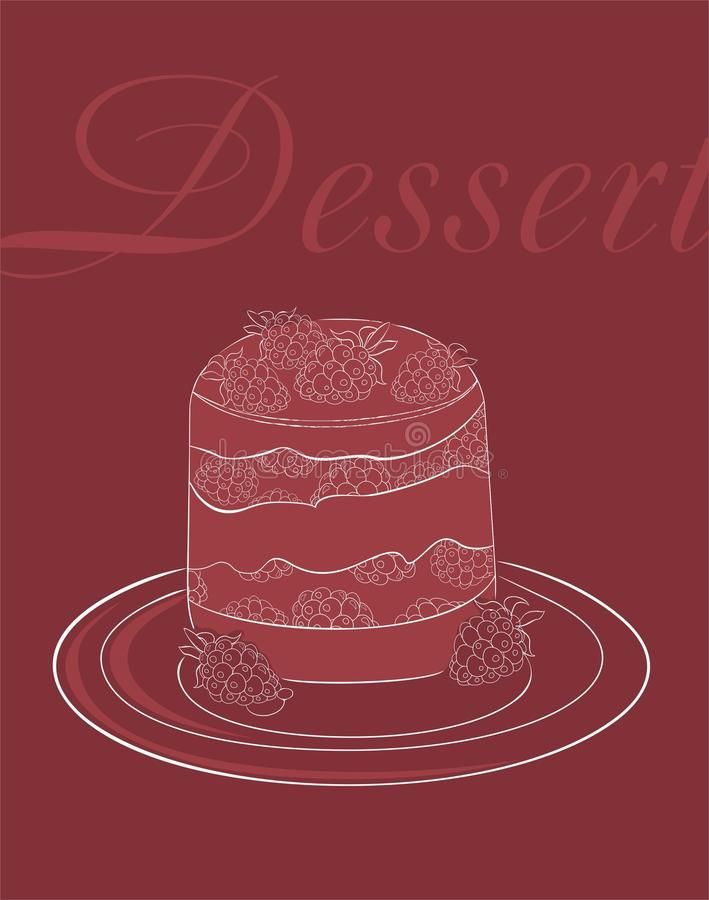 Descripteur De Carte De Dessert Images libres de droits