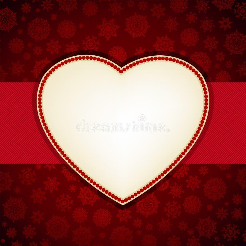 Descripteur de carte de trame de coeur de Noël. ENV 8 illustration de vecteur
