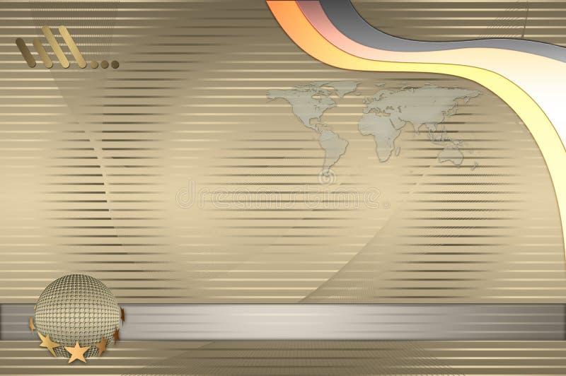 Descripteur de carte de visite professionnelle de visite. Type d'or. illustration de vecteur