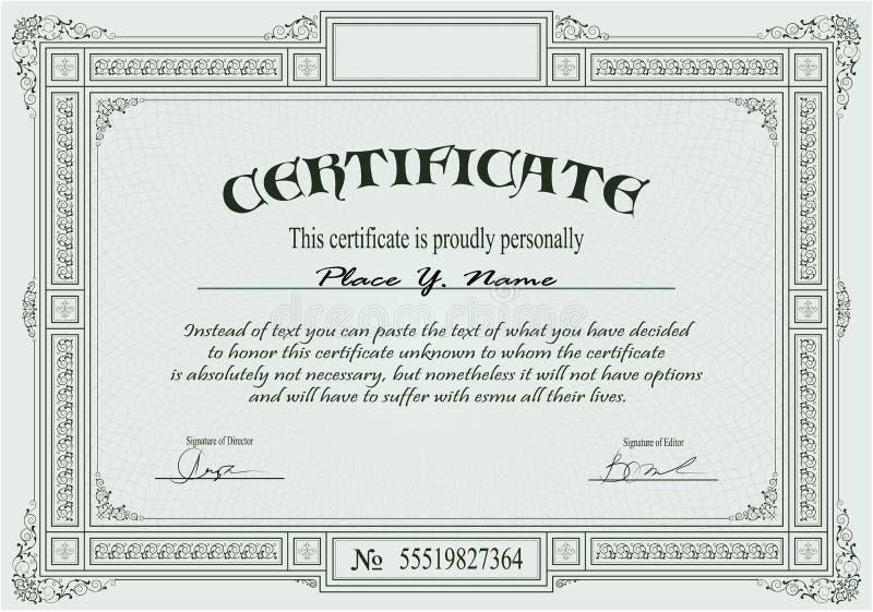 Descripteur de certificat illustration libre de droits
