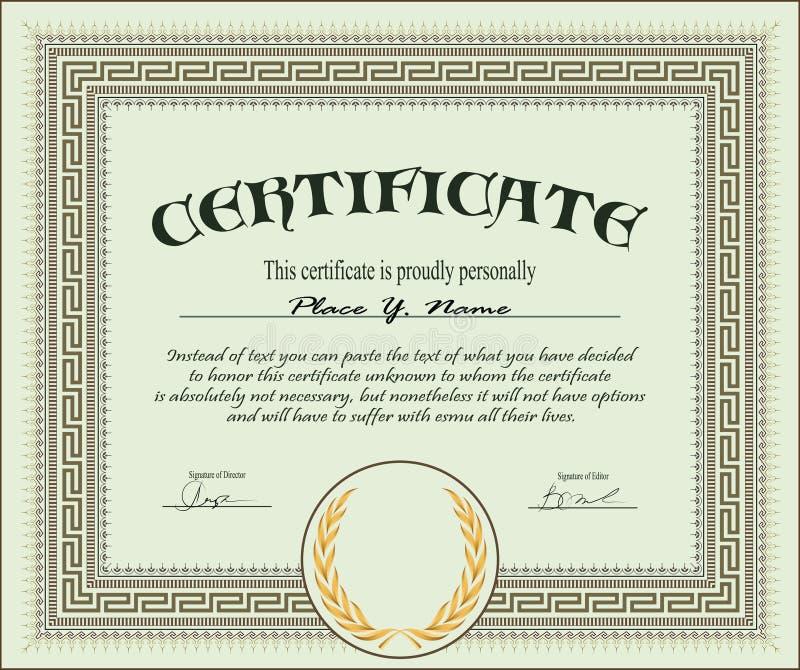 Descripteur de certificat illustration de vecteur