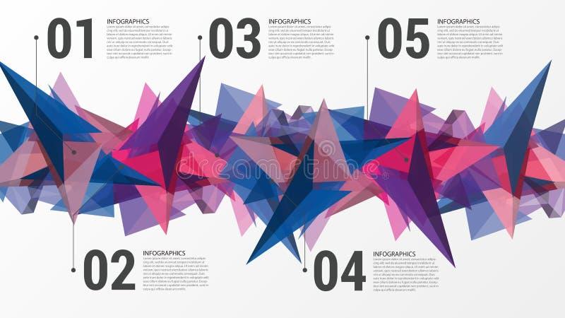 Descripteur de conception d'Infographics Concept abstrait de triangle Vecteur illustration libre de droits