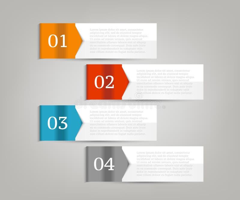 Descripteur de conception d'Infographics Concept d'affaires avec quatre options illustration stock