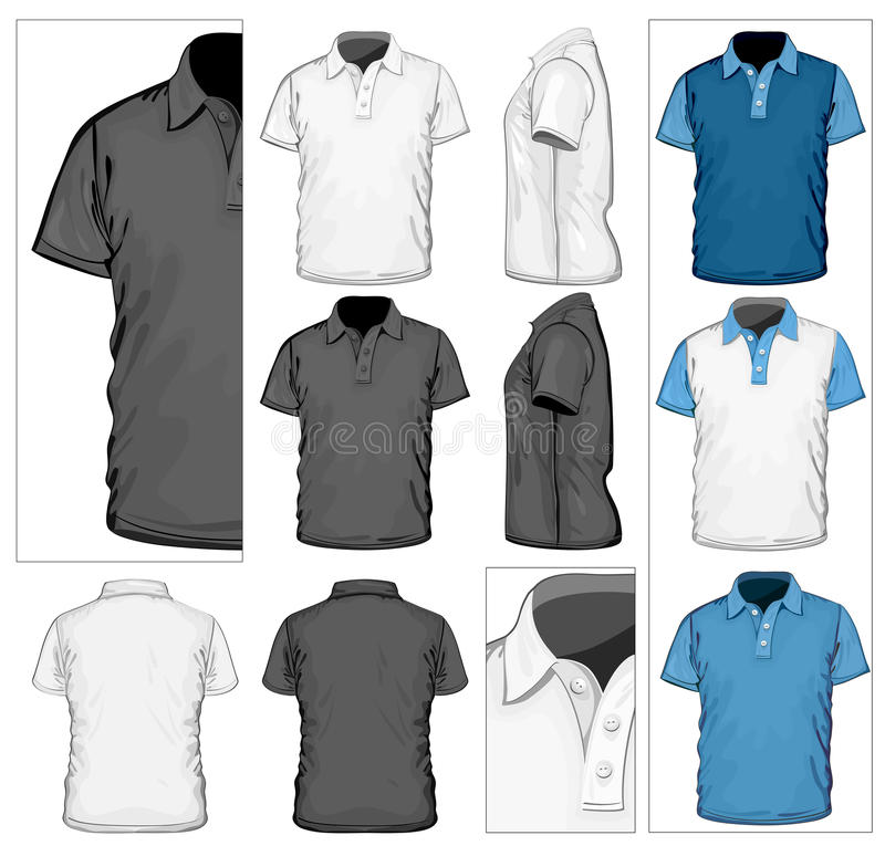 Descripteur de conception de la polo-chemise des hommes illustration libre de droits