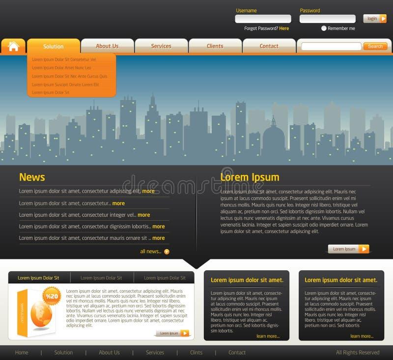 Descripteur de conception de site Web illustration libre de droits