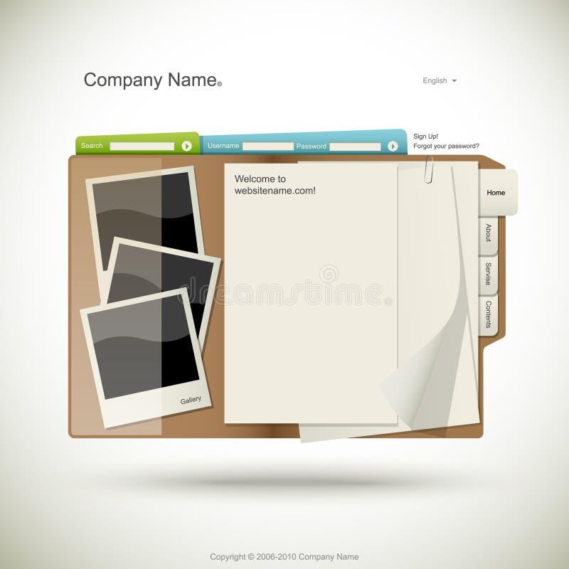 Descripteur de conception de site Web illustration de vecteur