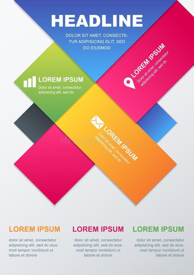 Descripteur de conception de vecteur Concept pour l'infographics d'affaires, broch illustration libre de droits