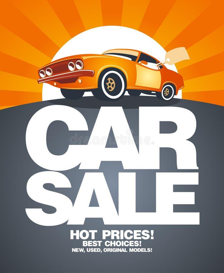 Descripteur de conception de vente de véhicule. illustration stock