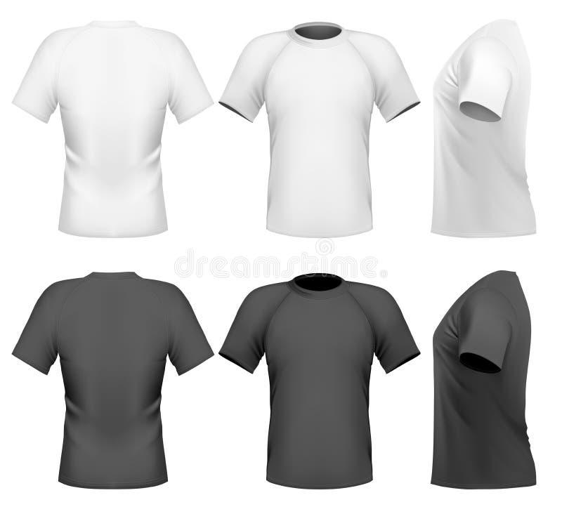 Descripteur de conception du T-shirt des hommes illustration de vecteur
