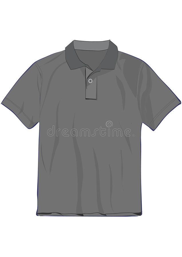 descripteur de la chemise de polo de conception t illustration libre de droits