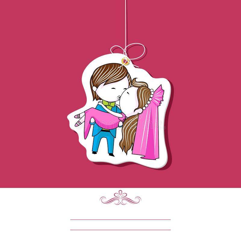 Descripteur de mariage illustration libre de droits