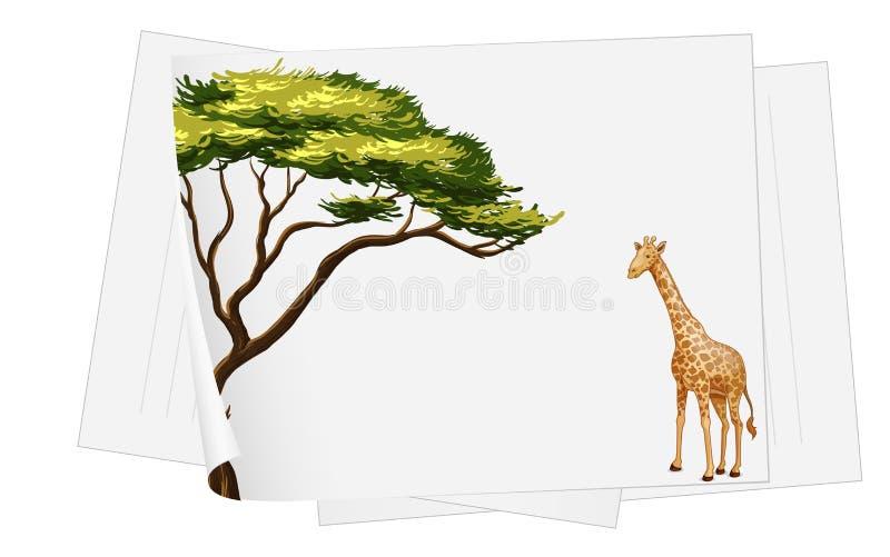 Descripteur de papier de giraffe illustration libre de droits
