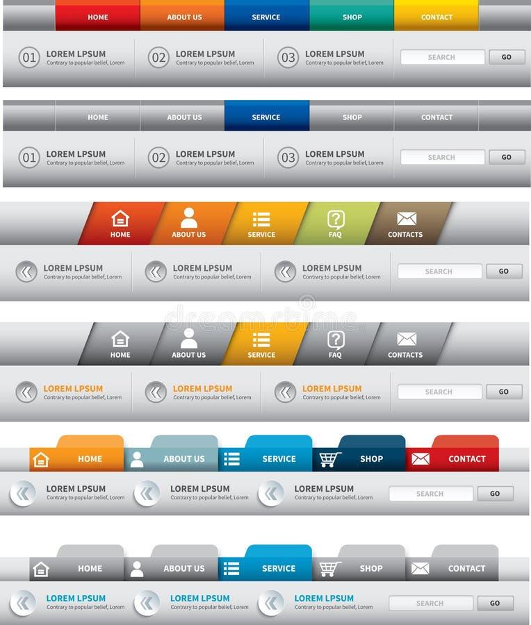 Descripteur de site Web illustration stock