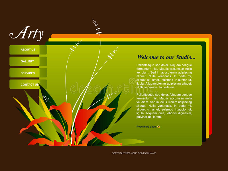Descripteur de site Web illustration de vecteur