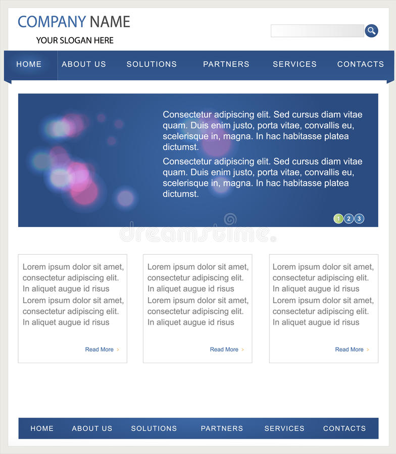 Descripteur de site Web d'affaires illustration stock