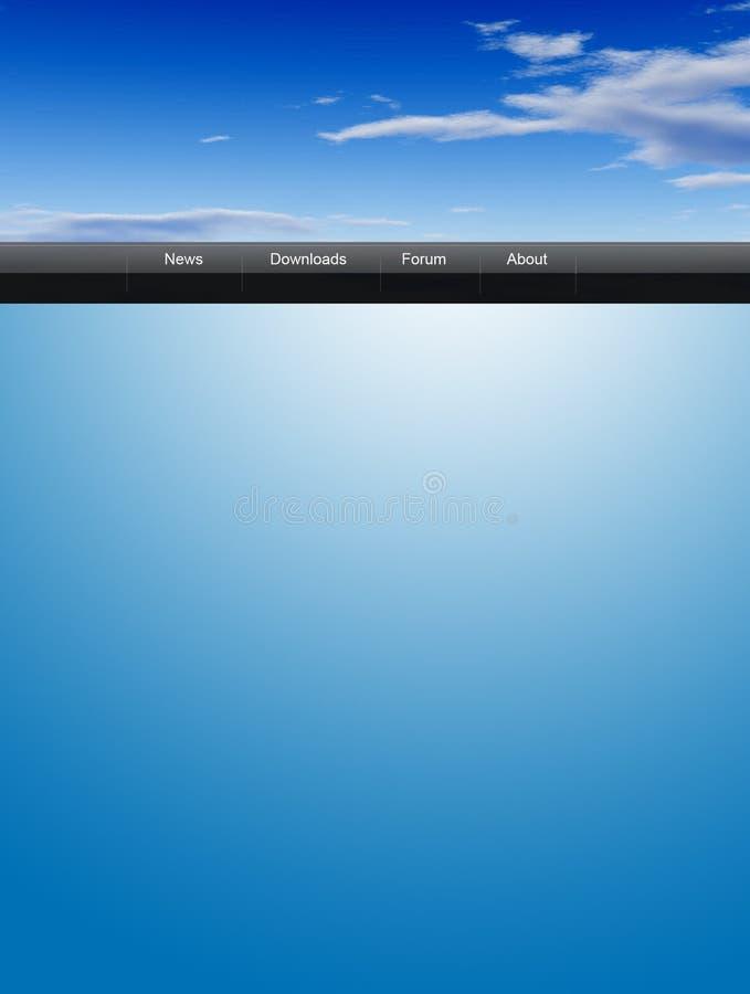 Descripteur de Web de ciel image stock