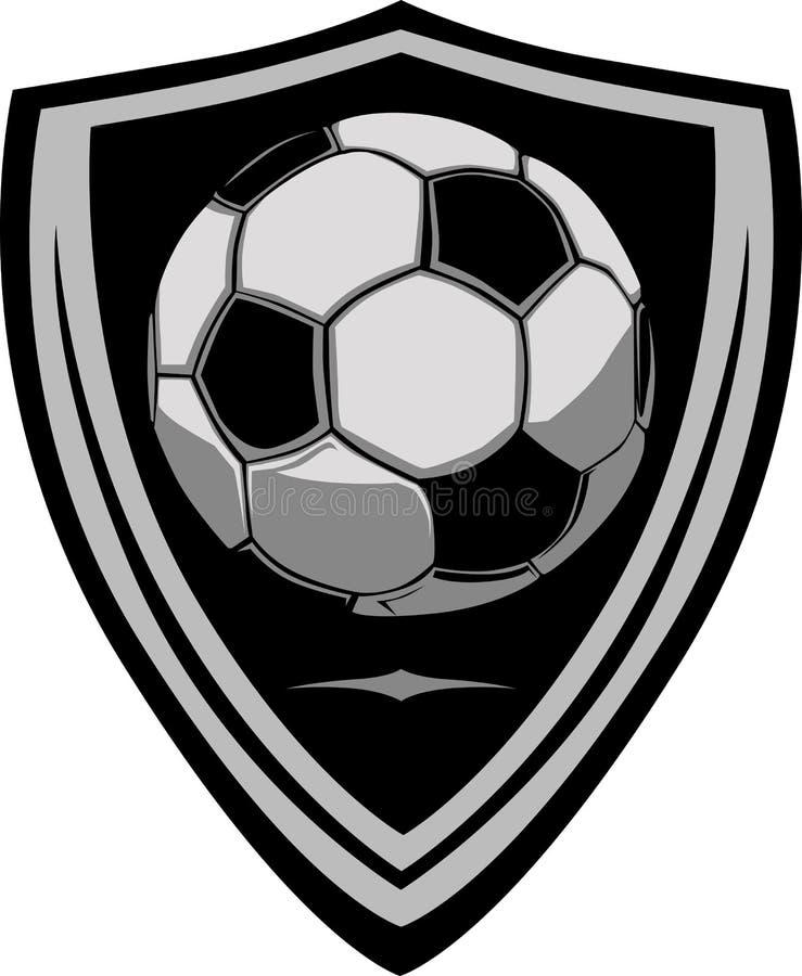 Descripteur du football avec l'écran protecteur illustration stock