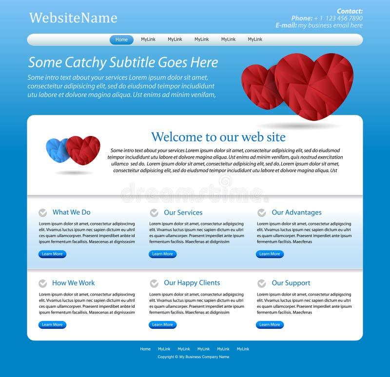 Descripteur editable bleu de site Web médical illustration stock