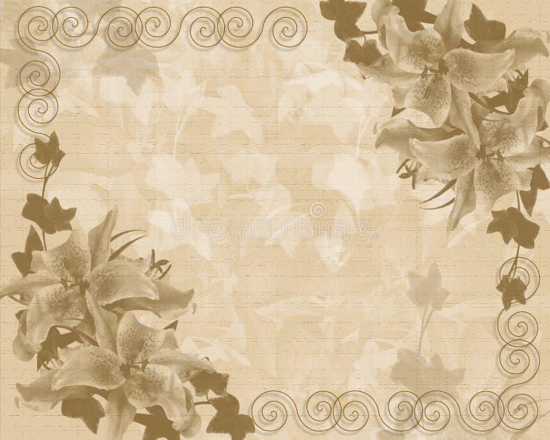 Descripteur floral d'invitation de mariage ou de réception illustration libre de droits