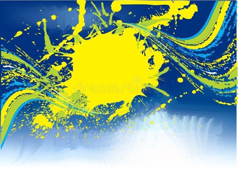 descripteur grunge bleu abstrait illustration de vecteur