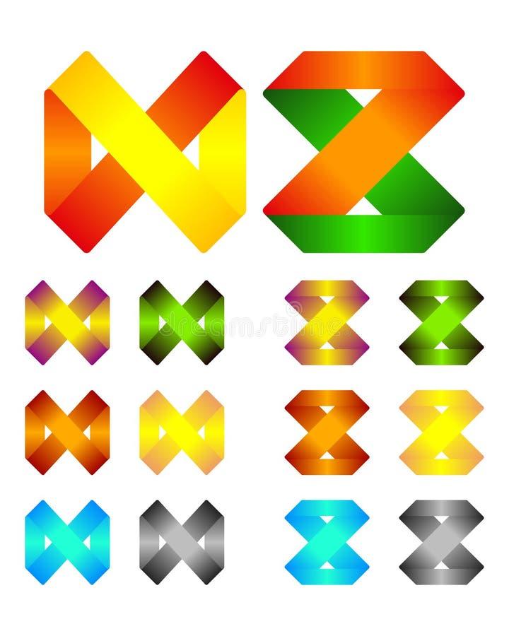Descripteur infini de logo de conception de vecteur de bande illustration libre de droits