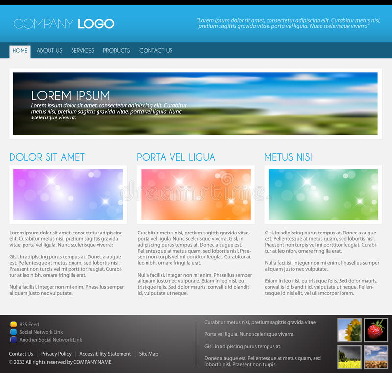 Descripteur moderne de page Web de vecteur illustration stock