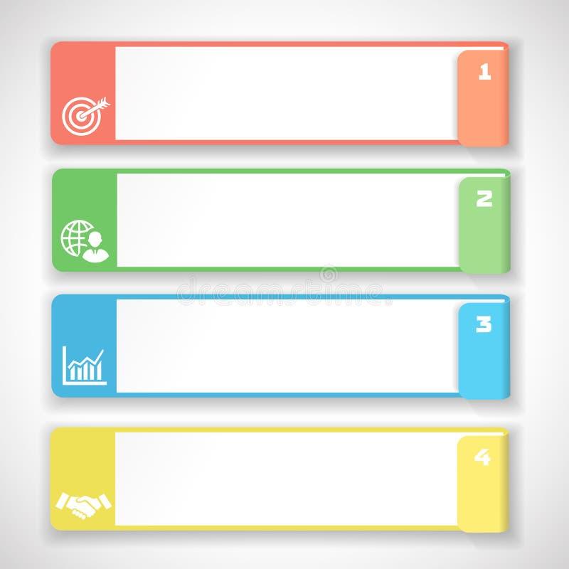 Descripteur mou moderne de conception de couleur Infographie illustration libre de droits