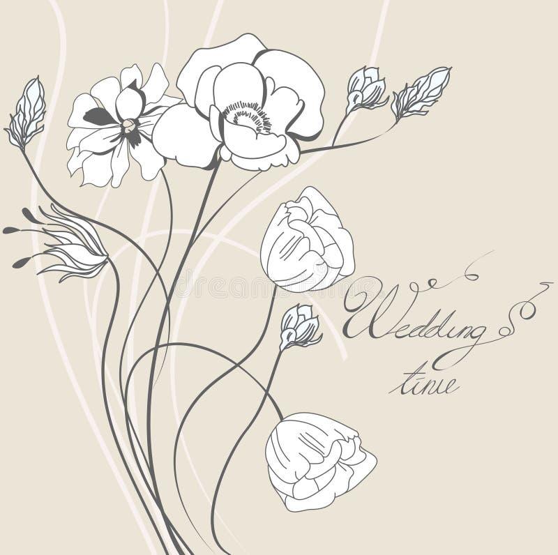 Descripteur pour l'invitation de mariage illustration de vecteur