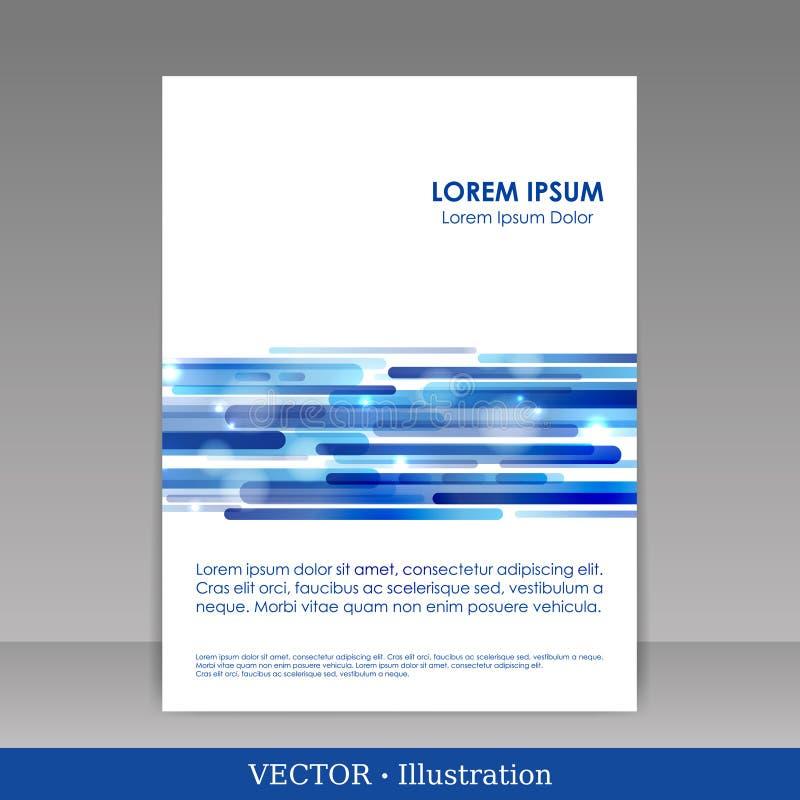 Descripteur pour la brochure de publicité. images libres de droits