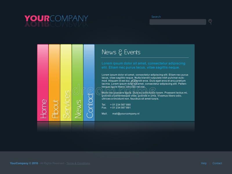 Descripteur professionnel de site Web illustration stock